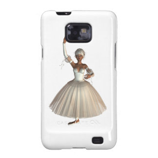 Caja de la galaxia de Samsung de la bailarina de Galaxy S2 Fundas