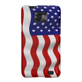 Caja de la galaxia de Samsung de la bandera americ Galaxy S2 Fundas