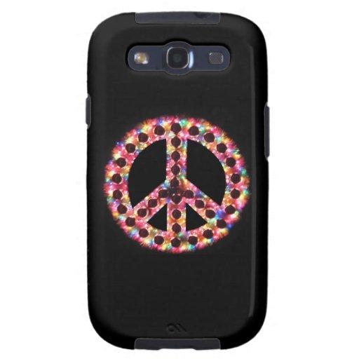 caja de la galaxia de Samsung de la paz 5-Color Samsung Galaxy S3 Funda