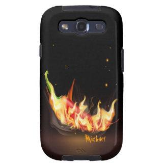 Caja de la galaxia de Samsung de la pimienta del c Galaxy S3 Carcasas