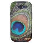 Caja de la galaxia de Samsung de la pluma del pavo Samsung Galaxy SIII Funda