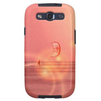 Caja de la galaxia de Samsung de la puesta del sol Samsung Galaxy S3 Cárcasa