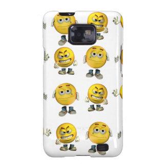 Caja de la galaxia de Samsung de los Emoticons Samsung Galaxy S2 Carcasas