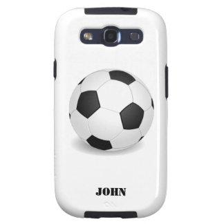 Caja de la galaxia de Samsung del balón de fútbol Galaxy SIII Funda