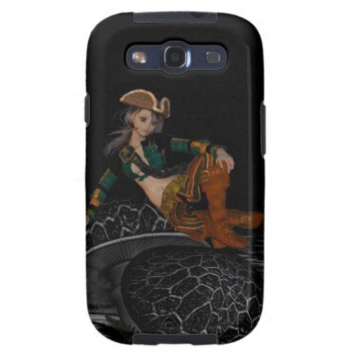 Caja de la galaxia de Samsung del chica del pirata Samsung Galaxy S3 Carcasas