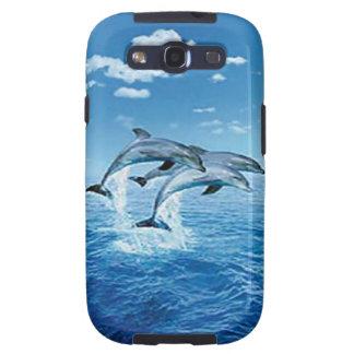 Caja de la galaxia de Samsung del delfín del aire Galaxy S3 Fundas