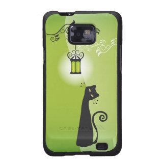 Caja de la galaxia de Samsung del gato negro Carcasa Para Samsung Galaxy SII