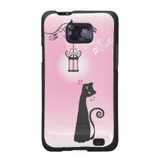 Caja de la galaxia de Samsung del gato negro Funda Galaxy S2