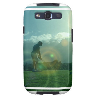 Caja de la galaxia de Samsung del golfista Samsung Galaxy S3 Carcasa