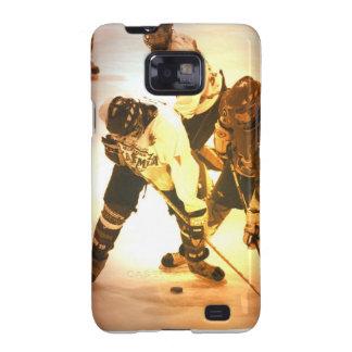 Caja de la galaxia de Samsung del hockey Galaxy SII Fundas