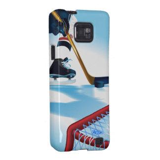 Caja de la galaxia de Samsung del jugador de hocke Samsung Galaxy S2 Carcasa
