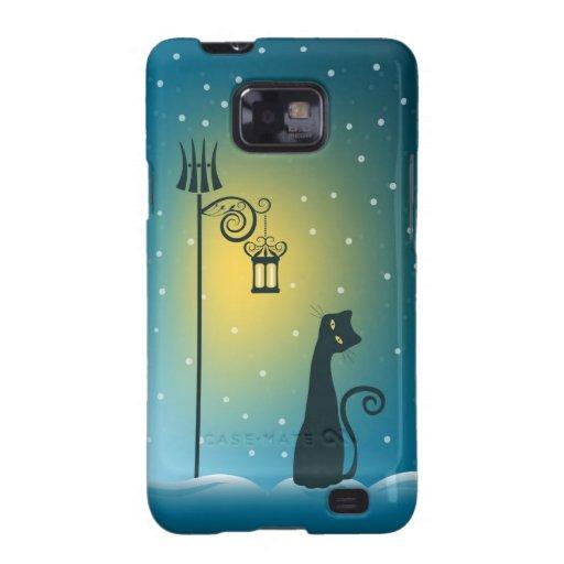 Caja de la galaxia de Samsung del navidad Samsung Galaxy SII Funda
