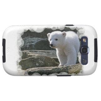 Caja de la galaxia de Samsung del oso polar del Galaxy SIII Protectores