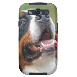 Caja de la galaxia de Samsung del perro de Berner Samsung Galaxy S3 Cárcasas