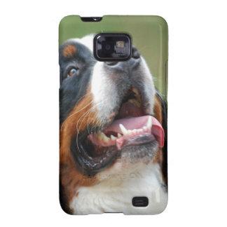Caja de la galaxia de Samsung del perro de Berner Galaxy S2 Carcasa