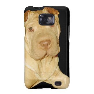 Caja de la galaxia de Samsung del perro de Shar Samsung Galaxy S2 Fundas