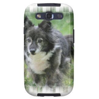 Caja de la galaxia de Samsung del perro de Sheltie Galaxy S3 Protectores