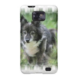 Caja de la galaxia de Samsung del perro de Sheltie Samsung Galaxy S2 Carcasas