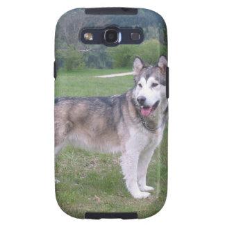 Caja de la galaxia de Samsung del perro del Galaxy S3 Protectores