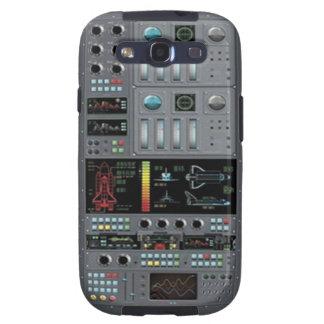 Caja de la galaxia de Samsung del tablero de contr Galaxy SIII Coberturas