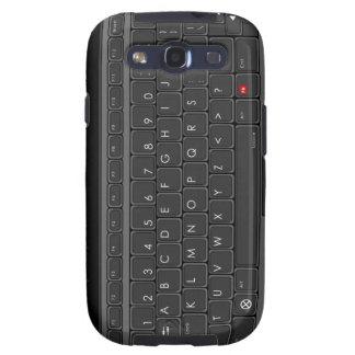 Caja de la galaxia de Samsung del teclado de ABC Galaxy SIII Cárcasas