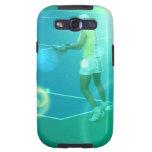 Caja de la galaxia de Samsung del tenis Galaxy SIII Protector