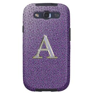 """Caja de la galaxia del diamante """"A"""" Bling Samsung Samsung Galaxy S3 Funda"""