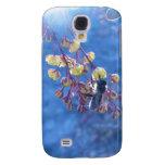 Caja de la galaxia S4 de Samsung de las flores de