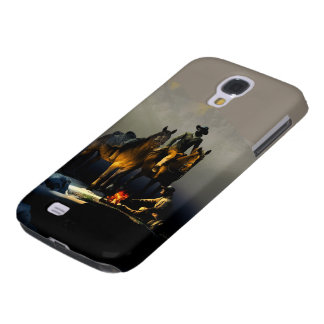 Caja de la galaxia S4 de Samsung de los vaqueros y Funda Para Galaxy S4