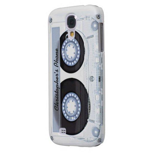 Caja de la galaxia S4 de Samsung del casete audio