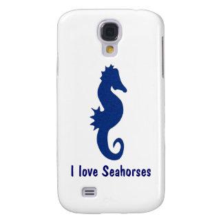 Caja de la galaxia S4 del caballo de mar Funda Samsung S4