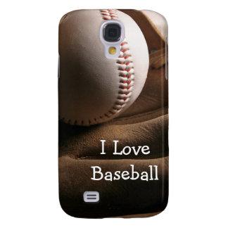 Caja de la galaxia S4 del tema del béisbol Funda Para Galaxy S4