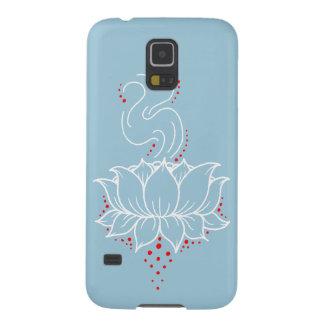 Caja de la galaxia S5 de Lotus Samsung de la Funda Para Galaxy S5