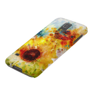 Caja de la galaxia S5 de Samsung de los girasoles Fundas Para Galaxy S5