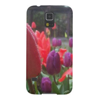 Caja de la galaxia S5 de Samsung de los tulipanes Funda Galaxy S5