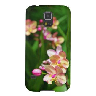 Caja de la galaxia S5 de Samsung del Orchidaceae Carcasa De Galaxy S5