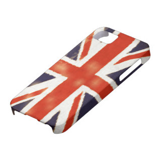 Caja de la galaxia S5 de Union Jack Samsung del Funda Para iPhone 5 Barely There