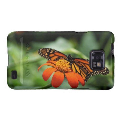 Caja de la galaxia S de Samsung de la mariposa de  Samsung Galaxy S2 Carcasas