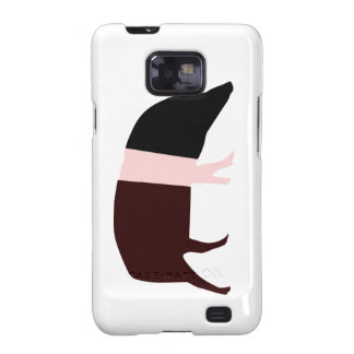Caja de la galaxia S de Samsung del cerdo de la en Samsung Galaxy SII Carcasas