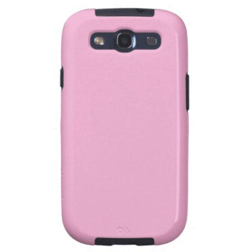 Caja de la galaxia S de Samsung del rosa en colore Samsung Galaxy S3 Funda