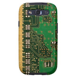 Caja de la galaxia S del fondo de la placa de circ Samsung Galaxy SIII Funda