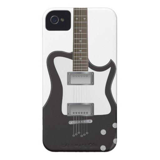 Caja de la guitarra eléctrica Iphone4 Barely There iPhone 4 Case-Mate Coberturas