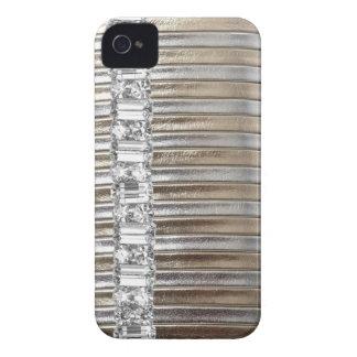 CAJA de la imitación de cuero IPHONE de los diaman Case-Mate iPhone 4 Funda