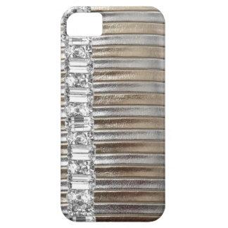 CAJA de la imitación de cuero IPHONE de los diaman iPhone 5 Case-Mate Carcasa