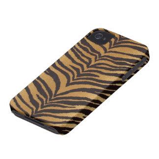 Caja de la impresión iPhone-4 del tigre iPhone 4 Case-Mate Cárcasa