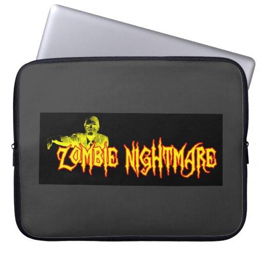 Caja de la libreta de la pesadilla del zombi fundas ordendadores