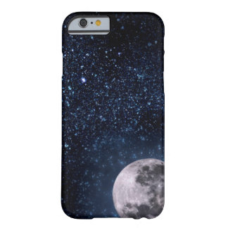 Caja de la Luna Llena y del cielo nocturno de las Funda De iPhone 6 Barely There