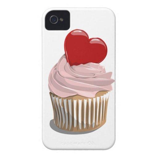 Caja de la magdalena iPhone4/4S del corazón del el Case-Mate iPhone 4 Funda
