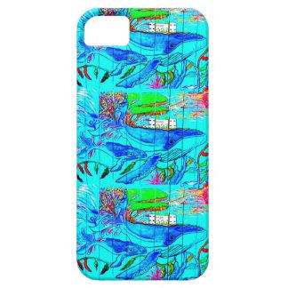 caja de la mama de la ballena jorobada iPhone 5 Case-Mate carcasa