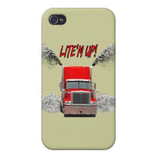 "¡Caja de la mota con ""LITE'M PARA ARRIBA! "" iPhone 4 Fundas"